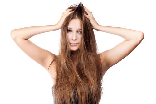髪 一部 乾燥